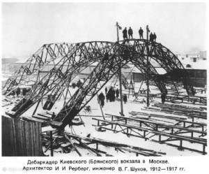 дебаркадер Киевского вокзала в Москве 1875 год