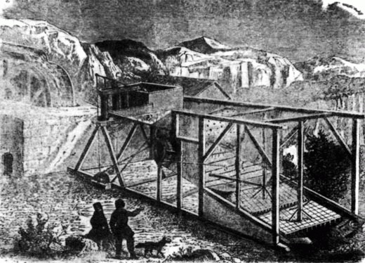 Золотопромывочная машина на одном из притоков р. Верхняя Тунгуска