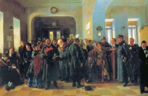 В.Е. Маковский. Крах банка. 1881