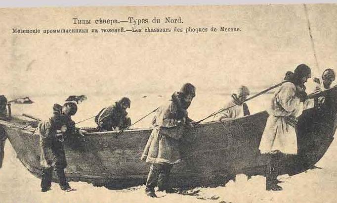 Мезенские промышленники на тюленей